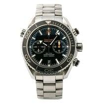 Omega Seamaster Planet Ocean Chronograph Acero 45mm Negro Sin cifras