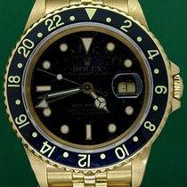 Rolex GMT-Master Κίτρινο χρυσό 40mm Μαύρο Xωρίς ψηφία Ελλάδα, Athens