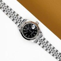 Rolex Lady-Datejust Zlato/Zeljezo 26mm Crn