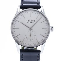 NOMOS Zürich pre-owned 39.8mm Silver Leather