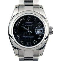 Rolex Lady-Datejust Acier 26mm Noir Arabes