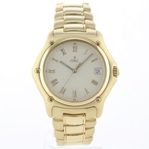 Ebel 1911 Yellow gold 36.5mm Champagne Roman numerals