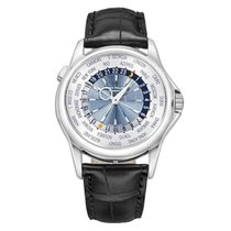 Patek Philippe Platinum Automatic Silver 39mm pre-owned World Time