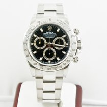 Rolex Silver Automatic Black No numerals 40mm pre-owned Daytona