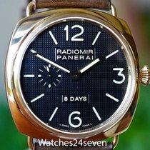 Panerai PAM 197 Radiomir Rose Gold 8 day JLC movement Hobnail...