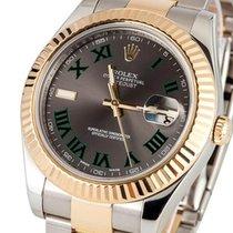 Rolex Oyster Datejust Gold Steel Roman Dial 41 mm (Full Set 2014)