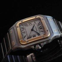 Cartier Santos Steel & 18k Gold Men's