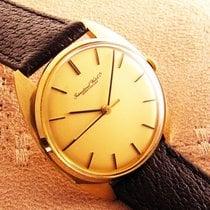 IWC vintage Mens 18K Gold International Watch Co Uhr 1974