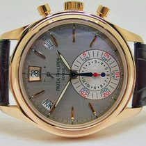 Patek Philippe Annual Calendar Chronograph Roségoud 40.5mm Grijs Geen cijfers