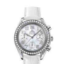 Omega Speedmaster Ladies Chronograph Acier 35.5mm Nacre Arabes