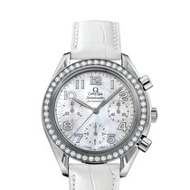Omega Speedmaster Ladies Chronograph Steel 35.5mm Mother of pearl Arabic numerals United States of America, New York, New York