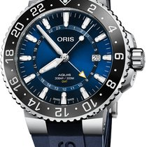 Oris Aquis GMT Date Steel 43,5mm Blue No numerals
