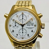 IWC Pilot Double Chronograph IW3713 Very good Yellow gold 42mm Automatic