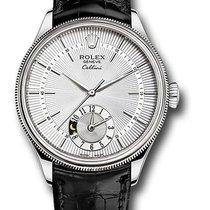 Rolex Cellini Dual Time White gold 39mm Black No numerals