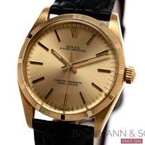 Rolex Oyster Perpetual 34 gebraucht 34mm Gold Leder