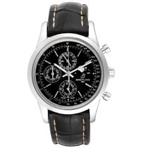 Breitling Transocean Chronograph 1461 Acero 43mm Negro