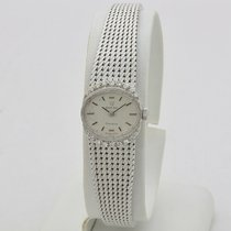 Omega White gold Manual winding Silver No numerals 17mm pre-owned Genève