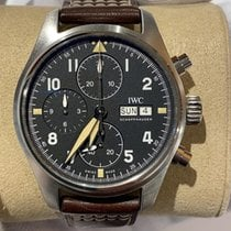 IWC Pilot Spitfire Chronograph Steel 41mm Black United States of America, Iowa, Des Moines