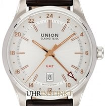 Union Glashütte Belisar GMT Steel 41mm Silver