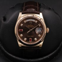 Rolex 118135 Rose gold 2017 Day-Date 36 36mm pre-owned United States of America, California, Huntington Beach