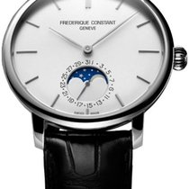 Frederique Constant Manufacture Slimline Moonphase Steel White United States of America, New York, Brooklyn