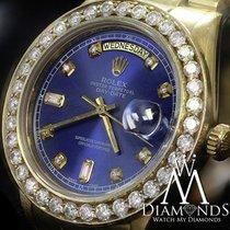 Rolex Day-Date 36 Or jaune 36mm Bleu
