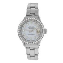 Rolex Ladies Oyster Perpetual Date Just 6516 Steel Diamond
