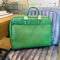 Rolex Green Leather bag