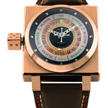 Azimuth King Casino Gold Finger Swiss Watch 3d Roulette/baccar...