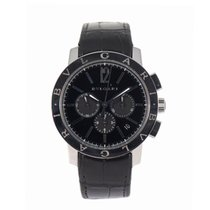 Bulgari Bulgari pre-owned 42mm Black Leather