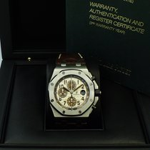 Audemars Piguet Royal Oak Offshore Chronograph occasion 42mm Blanc Chronographe Date Cuir de crocodile