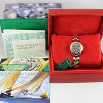 Rolex Yacht-Master pre-owned 29mm Blue Date Gold/Steel