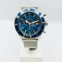 Breitling Superocean Héritage II Chronographe Steel 46mm Blue No numerals