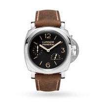 Panerai Luminor 1950 3 Days Power Reserve Acero 47mm Negro Arábigos