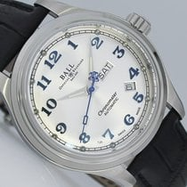 Ball Steel Automatic Silver Arabic numerals 41mm new Trainmaster Cleveland Express