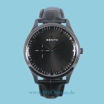 Zenith Elite Ultra Thin Stahl 40mm Schwarz Keine Ziffern Deutschland