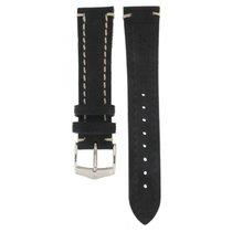 Hirsch Liberty Black Thick Calf Strap 20mm