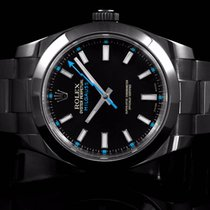 Rolex 116400 SS Milgauss, PVD w/ Black Dial and Blue Markers