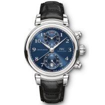 IWC Da Vinci Chronograph Сталь 42mm Синий Aрабские
