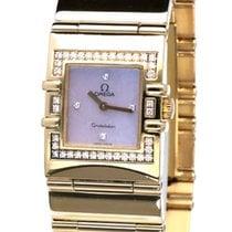 Omega Желтое золото Кварцевые Перламутровый Без цифр 24mm подержанные Constellation Ladies