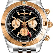 Breitling Chronograph 44mm Automatik 2018 neu Chronomat 44 GMT Schwarz