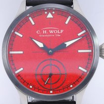 C.H. Wolf 45mm Manual winding 2016 pre-owned Red