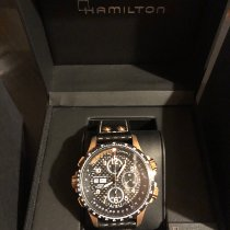 Hamilton Khaki X-Wind occasion 44mm Noir Chronographe Date Cuir