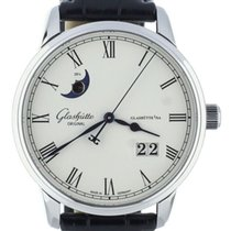 Glashütte Original Senator Panorama Date Moon Phase Acier 40mm Blanc