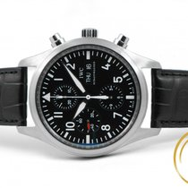 IWC Pilot Chronograph pre-owned 42mm Black Chronograph Date Leather