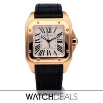 Cartier W20108Y1 Rose gold Santos 100 pre-owned