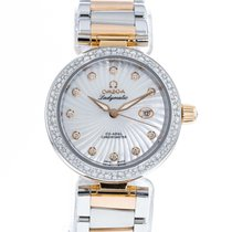 Omega De Ville Ladymatic pre-owned 34mm Mother of pearl Gold/Steel