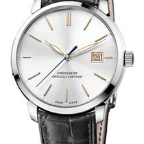 Ulysse Nardin San Marco pre-owned 40mm Silver Date Leather