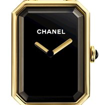 Chanel Yellow gold Quartz Black 20mm new Première