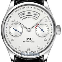 IWC Portuguese Annual Calendar Steel 44.2mm Silver United States of America, New York, Airmont
